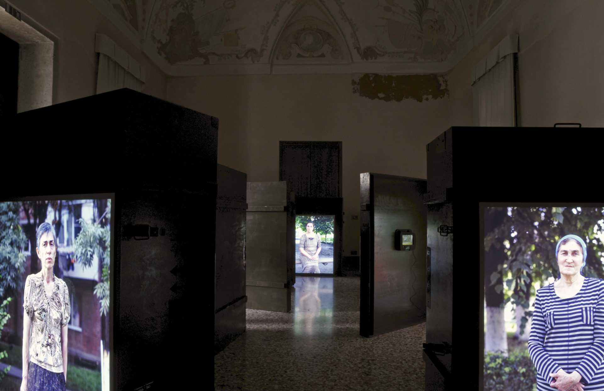Anastasia Khoroshilova, Starie Novosti (Old News), Biblioteca Zenobiana del Temanza, Venice , collateral event of the 54th International Art Exhibition, 2011